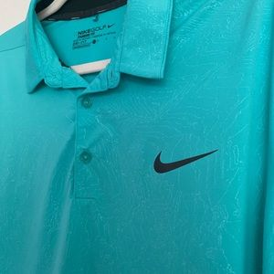 Nike golf polo marble green color pattern Sz L